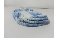 Natural Blue Opal Shaded Smooth Tyre Beads 5mm