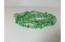 Natural Chrysoprase Uncut Chips Beads Strand 34 inches