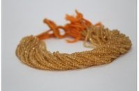 Natural Citrine Faceted Round Beads Strand 3.5-4mm