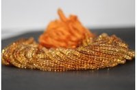 Natural Citrine Shaded Smooth Rondelle Beads Strand 4.5-5mm