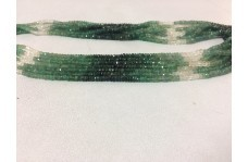Natural Emerald Shaded Faceted Rondelle Beads Strand 2.5-4mm