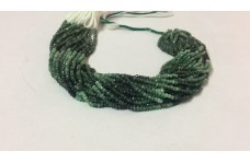 Natural Emerald Shaded Faceted Rondelle Beads Strand 3-4mm