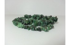 Natural Emerald Uncut Chips Beads Strand 34 inches