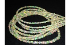 Natural Ethiopian Opal Plain Rondelle Beads Strand 3-4mm