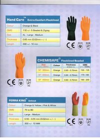 Safety rubber gloves manufacturers
