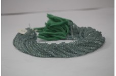 Natural Green Amethyst Faceted Rondelle Beads 4-5mm