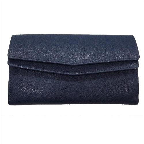 Navy Ladies Leather Purse