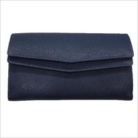 Navy Ladies Leather Purse