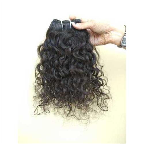 100% Human Hair Extensions Natural Color Vintage unprocessed Indian Curly Hair