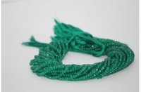 Natural Green Onyx Faceted Rondelle Beads 4-4.5mm