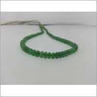Natural Green Tsavorite Garnet Smooth Rondelle Beads Necklace