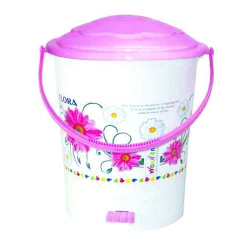 Plastic Pedal Dustbin 606 Printed
