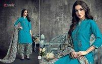 Fancy Printed Patiala Suits