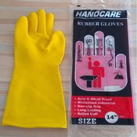 Industrial rubber gloves.