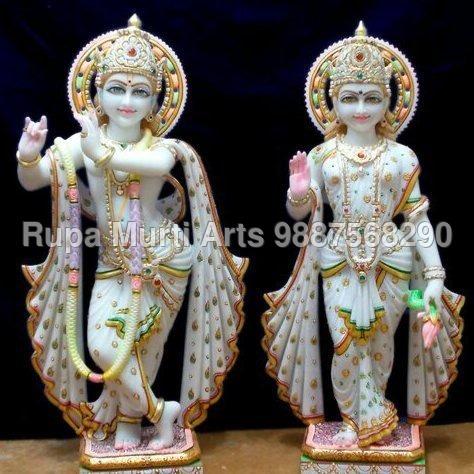 Radha Krishna Standing Marble Idols