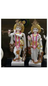 Radha Krishna Decorative Marble Moorti