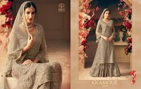 NEW  HEAVY STYLISH PLAZZO SALWAR SUITS