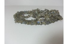 Natural Labradorite Uncut Chips Beads Strand 34 inches