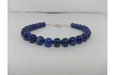 Natural Lapis Lazuli Smooth Round Beads Bracelet 7mm