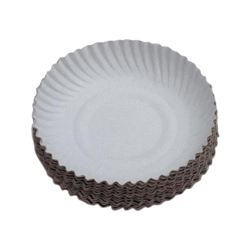 White Round Paper Plate