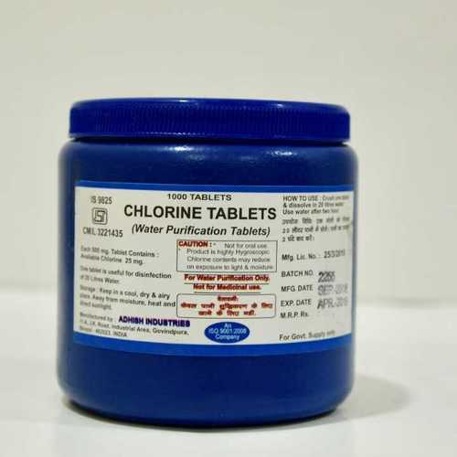 Chlorine Tablets ISI Mark