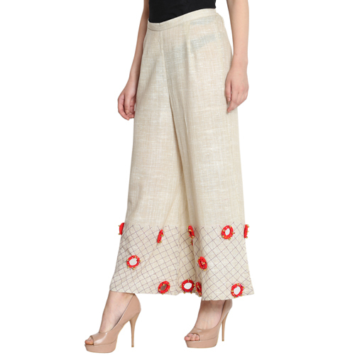 Women's Cotton Khadi Palazzos