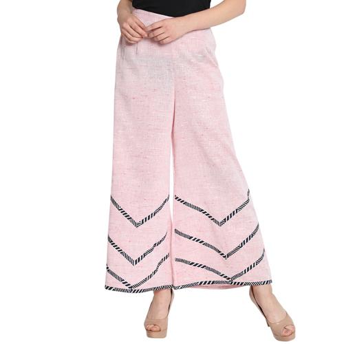 Ladies Pink Palazzo Pants
