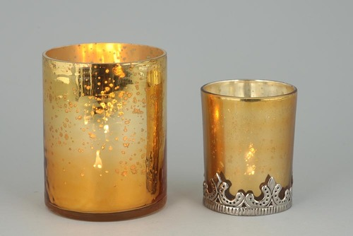 GOLDEN GLASS VOTIVE HOLDER