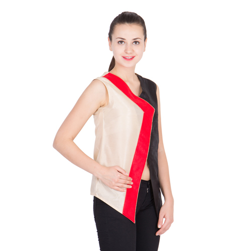 Womens Overlap Red and Black Top