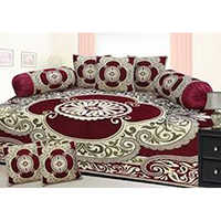 Chenille Printed Diwan Bed Sheet
