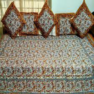 Printed Diwan Bed Sheet