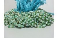 Natural Peruvian Opal Faceted Rondelle Beads Strand 3.5-4.5mm