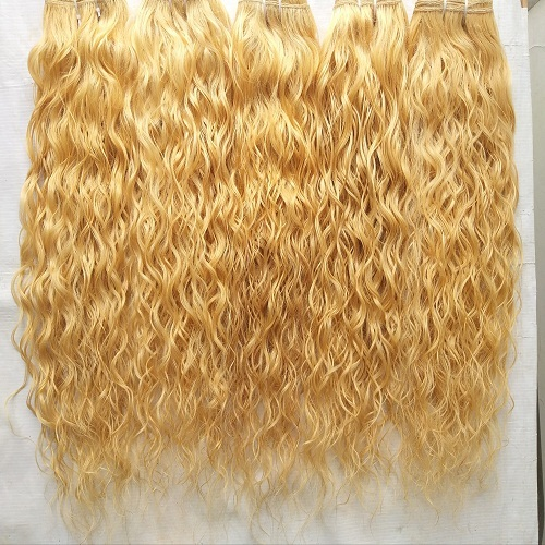 Natural Curly Blonde 613 Hair