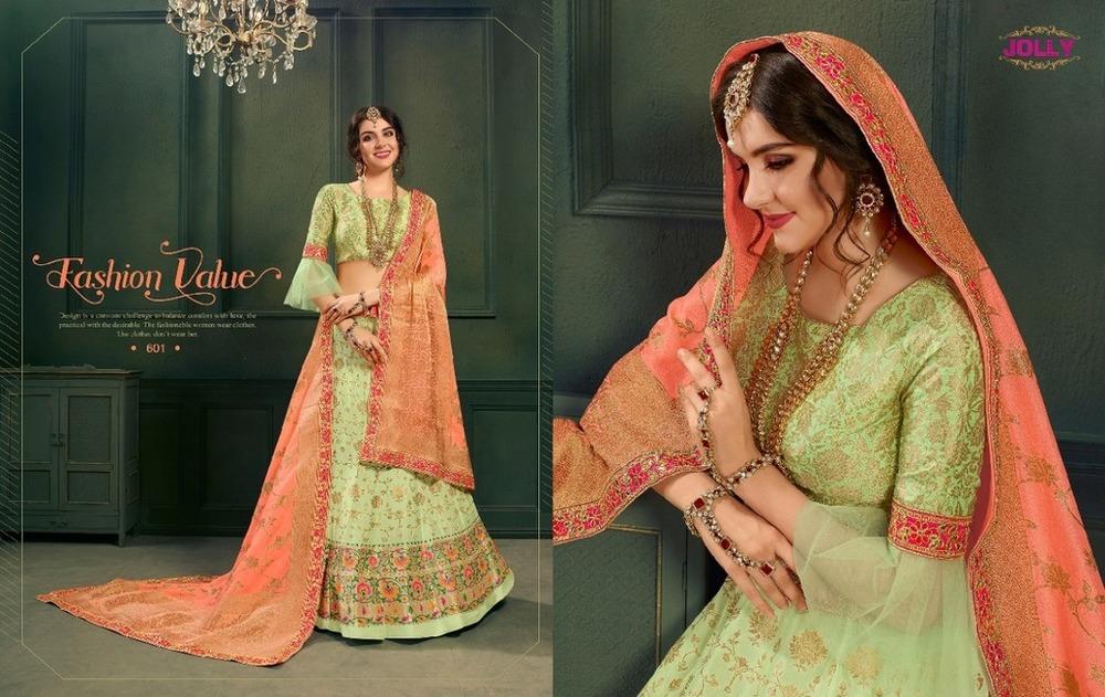 Pure Silk Jacquard Lehenga Choli