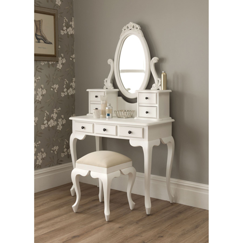 Antique Vanity Mirror Table