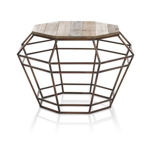 Iron Wooden Octagonal Table