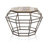 Iron Wooden Octagonal Table