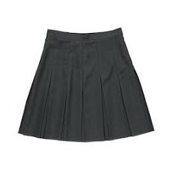 Black Plated Skirt