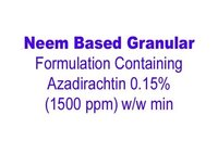Neem Based Granular Formulation Containing Azadirachtin 0.15% (1500 ppm) w/w min