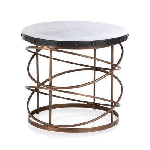 industrial Iron Side Table in Dual Tone finish