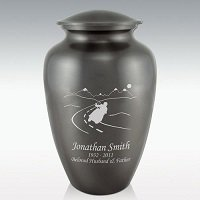 Riders Last Ride Classic Brass Cremation Urn Engravable