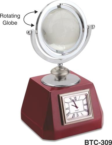 Rotating Globe with Clock