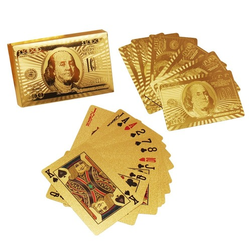 Gold Plated Playing Cards Dollar