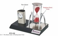 3-In-One Pen Stand Clock & Rotating Sand Timer