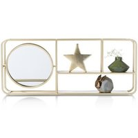Aunik Wall Rack with Mirror