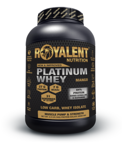 Platinum whey 1kg Mango