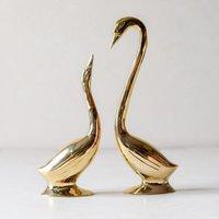 Swan Brass Sculptures