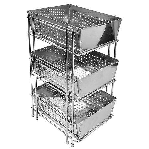 Three Shelf Stainless Steel Basket