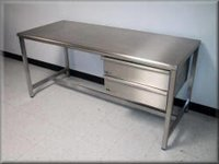 Stainless Steel Drawer Table