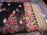 NET BLACK COLOR SAREE